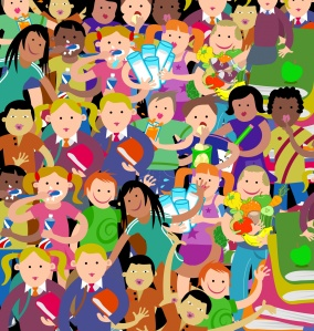crowd-of-kids